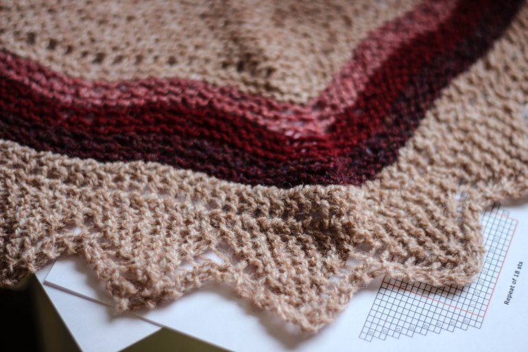 Mini Hap Shawl from Gudrun's class