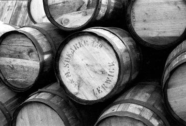 J&M Shearer barrels, Photo: Shetland Museum and Archives