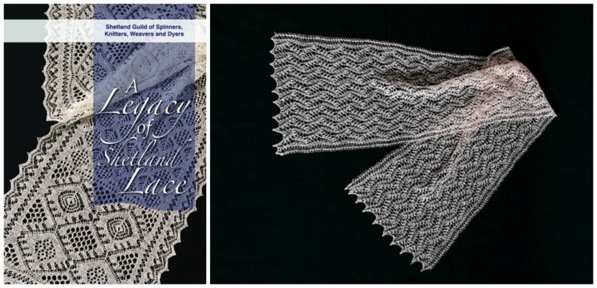 a legacy of shetland lace and Zena Thomsons zig zag scarf from the book