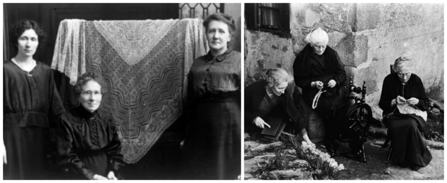 a few of the famous photos of the sutherland women, photo: shetland museum