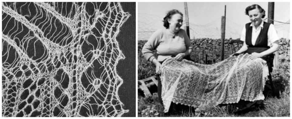 unst lace and ladies, photo's: unst heritage centre and shetland museum