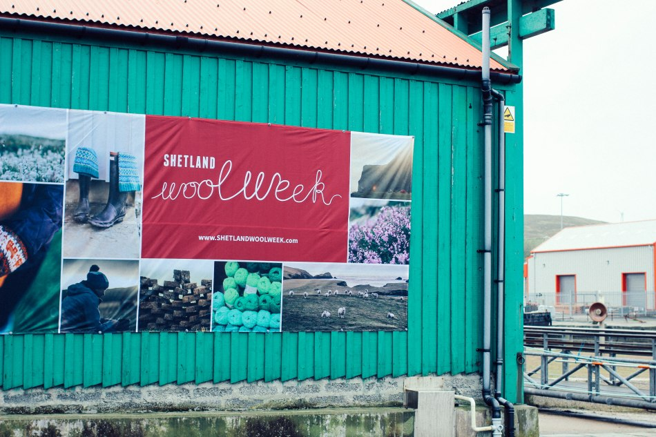 the wool week banner at the museum